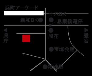 長崎市炉端はち舎の地図